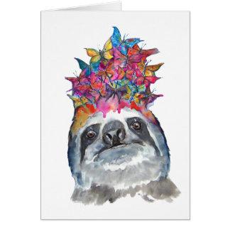 Sloth Flower Card