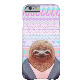 Sloth Funny with Pastel Aztec Tribal Barely There iPhone 6 Case