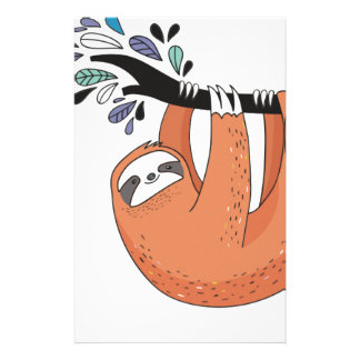 Sloth hang in there stationery