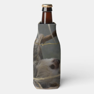 Sloth Hanging from a Branch Bottle Cooler