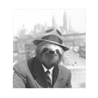 Sloth in New York Notepad