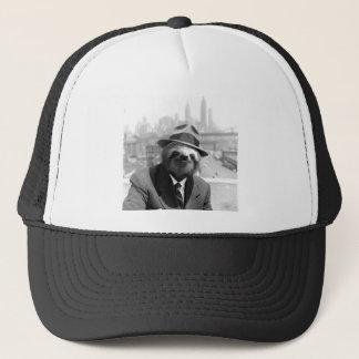 Sloth in New York Trucker Hat
