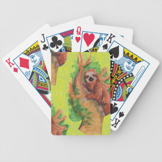 sloth in the tree bicycle playing cards