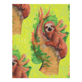 sloth in the tree letterhead