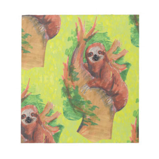 sloth in the tree notepad