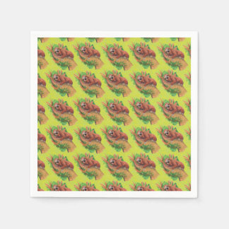 sloth in the tree paper napkins