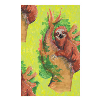 sloth in the tree stationery