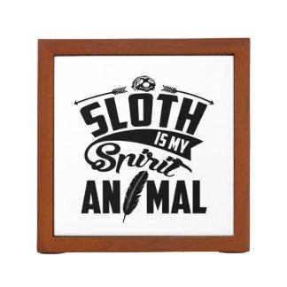 Sloth Is My Spirit Animal Desk Organizer