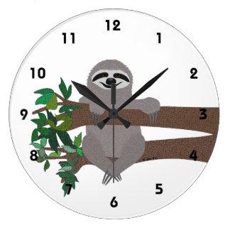 Sloth Large Clock
