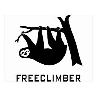 sloth lazy animal more climber more freeclimber postcard