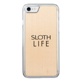 SLOTH LIFE CARVED iPhone 7 CASE