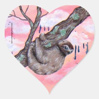 Sloth Love Heart Sticker