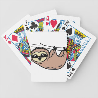 Sloth male animal cartoon bicycle playing cards