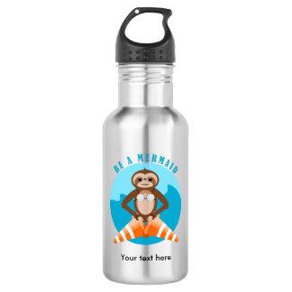 Sloth Mermaid Traffic Cone 532 Ml Water Bottle