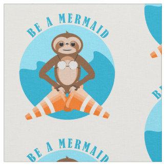 Sloth Mermaid Traffic Cone Fabric