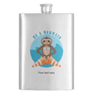 Sloth Mermaid Traffic Cone Flasks