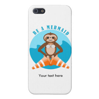 Sloth Mermaid Traffic Cone iPhone 5/5S Covers