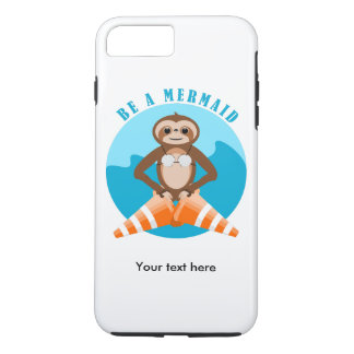 Sloth Mermaid Traffic Cone iPhone 8 Plus/7 Plus Case
