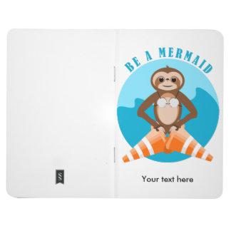 Sloth Mermaid Traffic Cone Journal