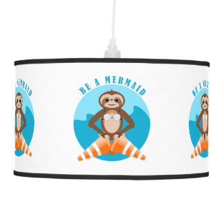 Sloth Mermaid Traffic Cone Pendant Lamp