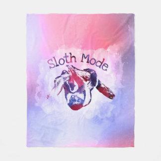 Sloth Mode  Purple Watercolor Fleece Blanket