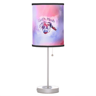 Sloth Mode  Purple Watercolor Table Lamp