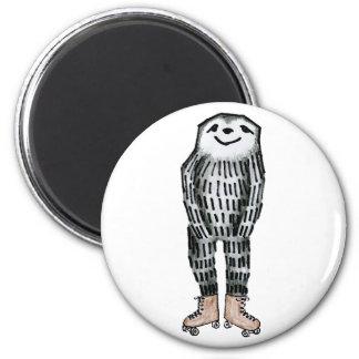 Sloth on Roller Skates Magnet