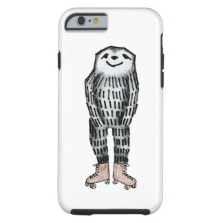 Sloth on Roller Skates Tough iPhone 6 Case