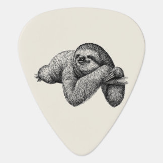 Sloth on tree guitar pick