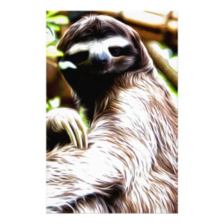 Sloth Painting Personalized Stationery
