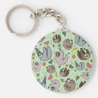 Sloth Party Keychain