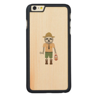 Sloth Ranger with lamp Z2sdz Carved Maple iPhone 6 Plus Case