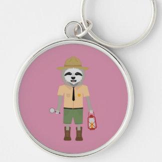 Sloth Ranger with lamp Z2sdz Keychain
