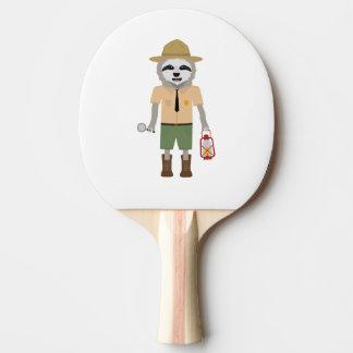 Sloth Ranger with lamp Z2sdz Ping Pong Paddle