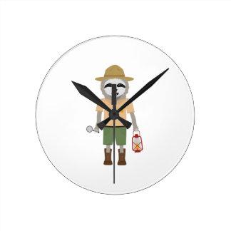 Sloth Ranger with lamp Z2sdz Round Clock