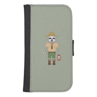 Sloth Ranger with lamp Z2sdz Samsung S4 Wallet Case