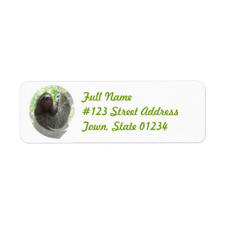 Sloth Return Address Mailing Label