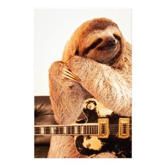 Sloth Rockstar Personalized Stationery