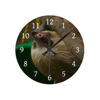 Sloth Round Clock