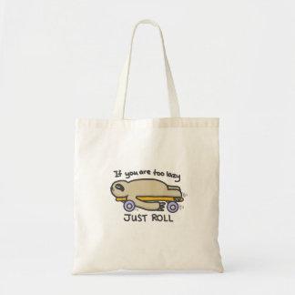 Sloth Skateboarding Tote Bag
