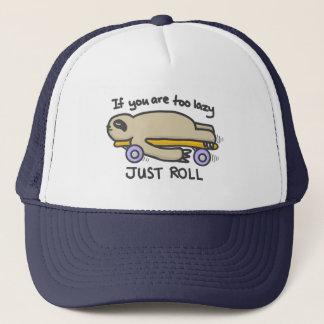 Sloth Skateboarding Trucker Hat