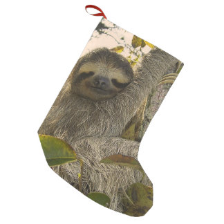 sloth small christmas stocking