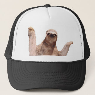 sloth trucker hat