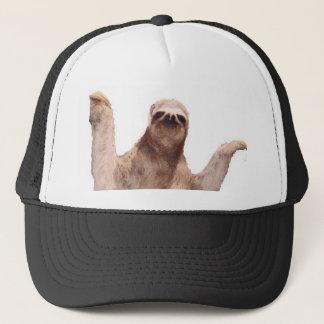 sloth trucker hat