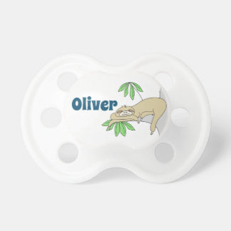 Sloth with Name Pacifier