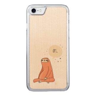 Sloth Yoga Funny Sloth Lover Carved iPhone 8/7 Case