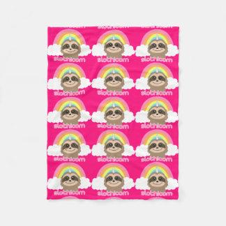 Slothicorn sloth unicorn pink blanket