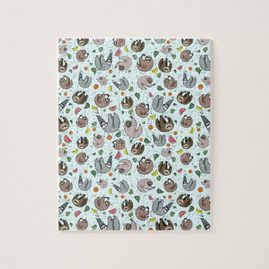 Sloths in Blue Jigsaw Puzzle