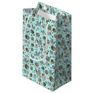 Sloths in Blue Small Gift Bag