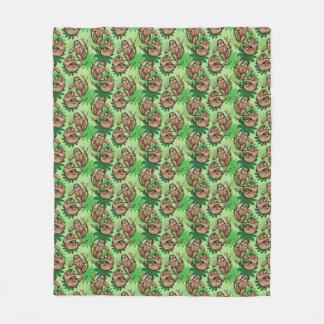 Sloths on a Branch Cute Fleece Blanket